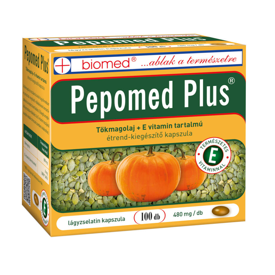 Biomed Pepomed Plus tökmagolaj kapszula 100 db