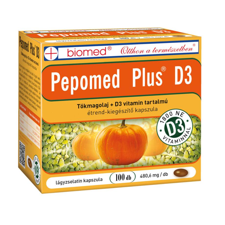 Biomed Pepomed Plus D3 tökmagolaj kapszula 100 db